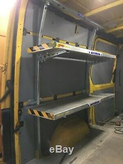 Mercedes Sprinter Vw Crafter Heavy Duty Acier Pliant Racking Rayonnage Rrp £ 3000 +