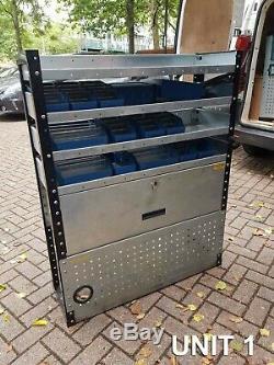 Metal Van Racking Rayonnage Commercial Robuste 3x Set