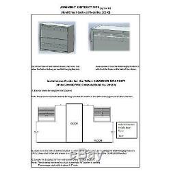 Mur De Verrouillage En Métal Cabinet D'outils Magasin Garage Étagère De Rangement En Acier Robuste Noir