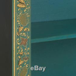 Neuf Écoles Oriental Grand Bleu Décoré Bibliothèque Avec Feuille D'or Edging