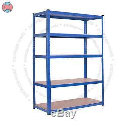 Nouveau Stockage En Métal Résistant Soutirant L'étagère Bleue Sans Étagère De Rayonnage Bleu De 5 Niveaux