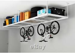Nouveau Système De Rangement Pour Garage Réglable Au Plafond Avec Plafonds Suspendus, 4 X 8 Pi, Blanc
