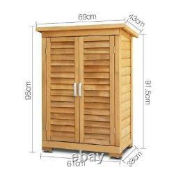 Outils Portatifs D'entreposage D'utilité D'armoire Extérieure D'armoire D'armoire De Jardin En Bois