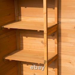 Outsunny 90x50cm Wooden Garden Shed Étagères Extérieures Armoire De Rangement Des Outils Utilitaires