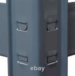 Pack De 2 Étagères De Rangement Robustes 5 Niveaux Garage Racking Grey Boltless