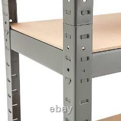 Pack De 2 Garage Étagères Rack Heavy Duty Grey Boltless Storage Shelves Workshop