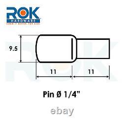 Paquet De 100 Pouces 1/4 Pin Cuillère En Forme Meubles Tablette Support Nickelé