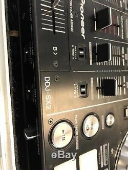 Pioneer Ddj-serato Sx2 Avec Heavy Duty Coulissant Shelfs Route Case & Adaptateur