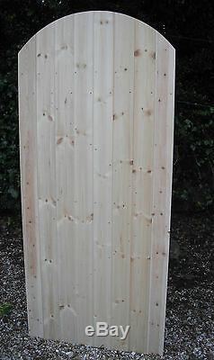 Porte Latérale De Jardin En Bois Ledge & Renforcé Heavy Duty 6ft 1800mm Plus Courbé Top