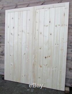 Portes De Garage En Bois, Cadre Et Rebords Robustes
