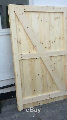 Portes De Garage En Bois, Heavy Duty Rebord De La Monture Et Entretoisées