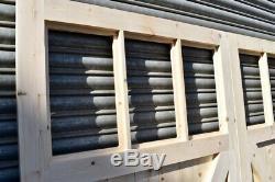 Portes De Garage En Bois Robuste Cadre, Rebord & Renforcé 6 Volet