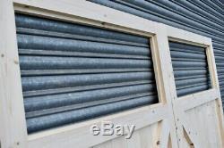 Portes De Garage En Bois Robuste Cadre, Rebord & Renforcé Volet Unique
