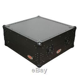 Prox Xs-19mixltbl Ata 300 Heavy Duty 10u Slanted 19 Mixer Case + Étagère Pour Ordinateur Portable