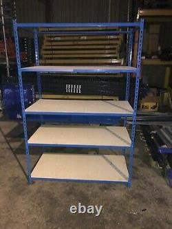 Racking Rapide Usedshelving Heavy Duty 2m / 1200 / 600mm 5 -shelf Tier With Wood