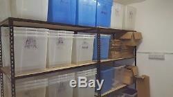 Rangement 4 Tierres Robustes Rayonnage Rangement Pour Garage 1.8mx1.2mx0.6m Lot De 9x