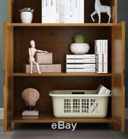 Rangement De Bureau Élégant En Bambou De Qualité Supérieure Avec Plusieurs Bibliothèques Et Étagère De Rangement