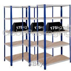 Rangement De L'entreposage De Rangement Pour L'entrepot Industriel À 3 Baies Industriel Racking 1800x900x600mm