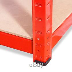 Rayonnage De Rayonnage De Garage Robuste Et Robuste En Métal Large / Profond Rouge À 5 Niveaux En Métal
