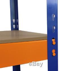 Rayonnage S-rax Rayonnage 4 Unités De Rangement Garage En Métal Largeur 150cm