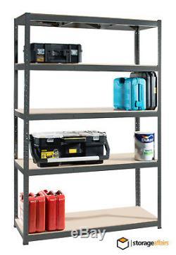 Rayonnages De Garage Extra-robustes, 2 X 5 Niveaux, Rayonnages De Rangement