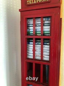 Rétro Style London Telephone Box CD DVD Coffret De Stockage Jusqu'à 100 Cds