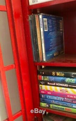 Retro Style London Téléphone CD Boîte Meuble De Rangement DVD Jusqu'à 100 Cds