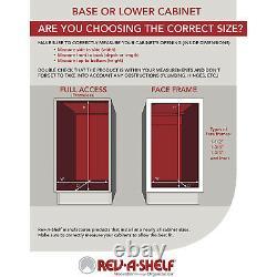 Rev-a-shelf Rv-18kd-11c-s Double Récipient D'armoire De Cuisine De 35-qt