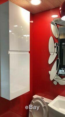 Salle De Bain Cuisine 100% Imperméable Grand 400mm Cabinet Blanc Laqué Montage Mural