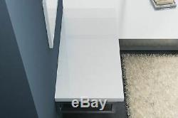 Salle De Bains De Luxe De Tablette Cast Stone Et Support Robuste Blanc Gamme Complète