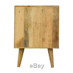Scandinave Nordic Table De Chevet Avec Blanc Painted Siècle Tiroir & MID Jambes