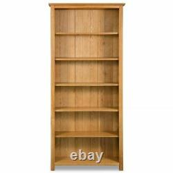 Solid Oak Wood 3 5 6 Tier Bookcase Book Shelves Display Home Office Bookself Nouveau