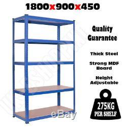 Stockage Résistant 1.8m Soutenant 5 Boules De Rayonnage Bleues De Rangée Pour L'atelier De Garage