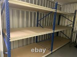 Stow Steel Frame Heavy Duty Factory Racking Shelving Industrial 4 Bays 12 Étagères