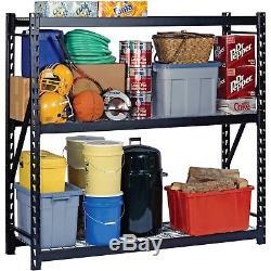 Support Ajustable D'étagères De Niveau 3 De Stockage En Métal En Acier De Garage En Métal Résistant De Garage
