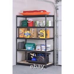 Support De Rangement 5 Étagères Réglables Steel Garage Home Metal Shelf Unit Heavy Duty