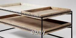 Swoon Hansel Living Room Table Basse Marbre - Noir Rrp 449 Euros