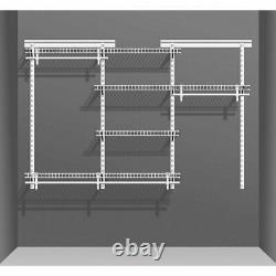 Système D'organisateur D'armoires De Vêtements Ouverts Étagères De Stockage De Rail De Suspension