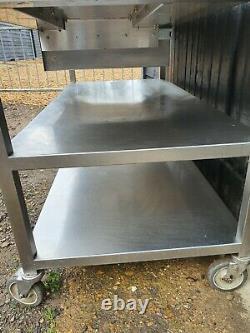 Table De Cuisine De Restauration En Acier Inoxydable 152 CM De Long Castors Shelves Heavy Duty