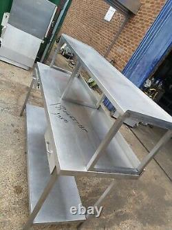 Table De Plan De Travail En Acier Inoxydable Commercial Avec Tablette Sur Lourds 180x65x135