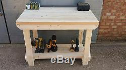 Table Industrielle Très Résistante D'établi De Garage En Bois Faite En Bois De 2x6 Cls