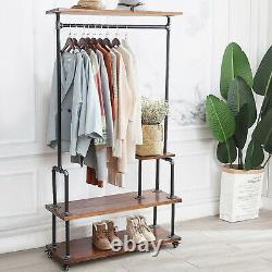Tablette De Rangement Des Vêtements D'entrée De L'arbre De La Banquette De Chaussures De L'armoire De Style Industriel