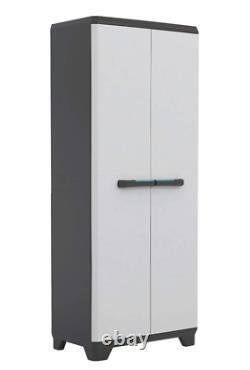 Tall Plastique Armoire De Rangement Extérieur De Jardin Utilitaire Étagères Cabinet Unité Shed