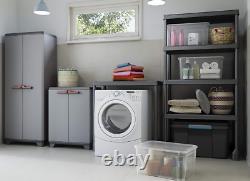 Tall Plastique Armoire De Rangement Extérieur Étagères De Jardin Utility Cabinet Box Uk N