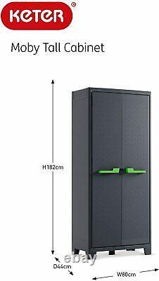 Tall Plastique Étanche Armoire De Rangement Extérieur Étagères De Jardin Utility Box