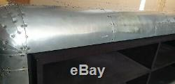 Timothy Oulton Aviator Spitfire Media Storage Hangars Argent Dur Utilisé