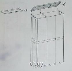 Toolmax Outdoor Garden Utility Plastic Storage 4, Étagères Unit Box Case Cupboard