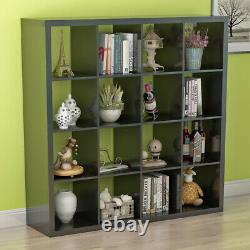 Unit Display 16 Cubes Bookshelf Storage Bookcase Shelving Cabinet Home Office Royaume-uni