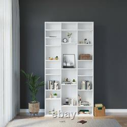 Unit Display CD DVD Storage Shelves Bookcase Shelving Bookshelf Home Office Royaume-uni