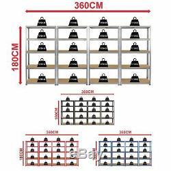 Unité De Garage À Montage En Acier Robuste À Rayonnage En Acier Robuste Avec Tablettes Et 5 Compartiments